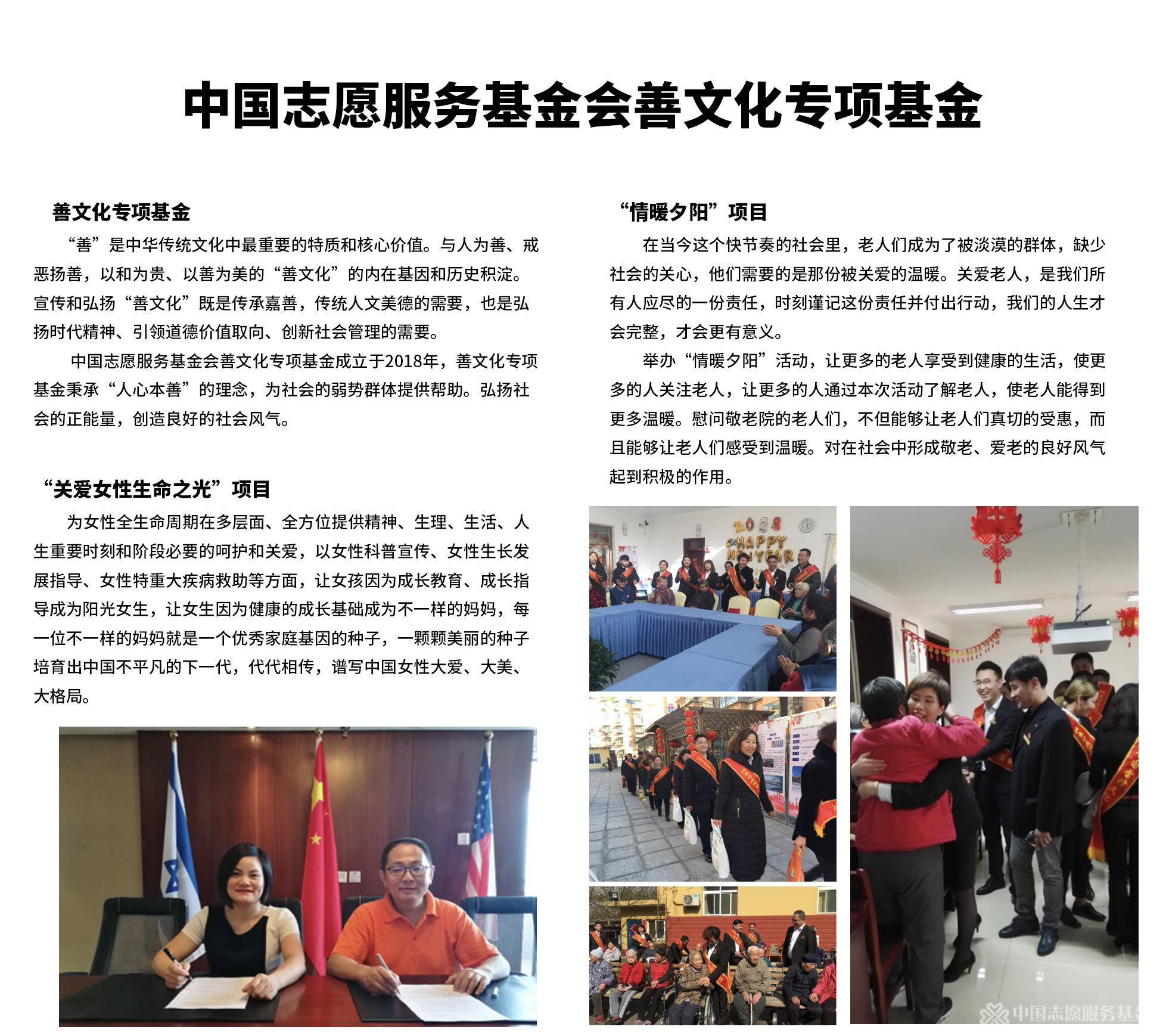 中國志愿服務基金會善文化專項基金